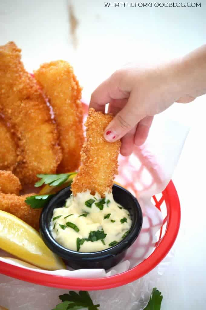 Gluten Free Fish Sticks from What The Fork Food Blog