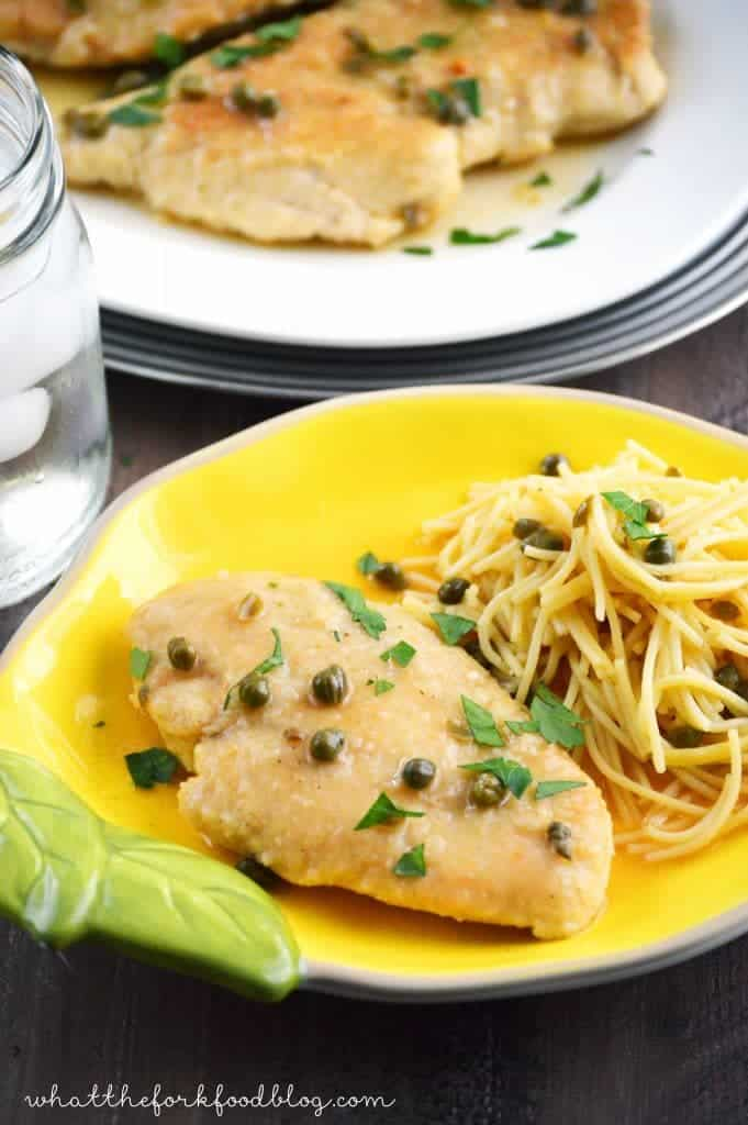Chicken Piccata from What The Fork Food Blog