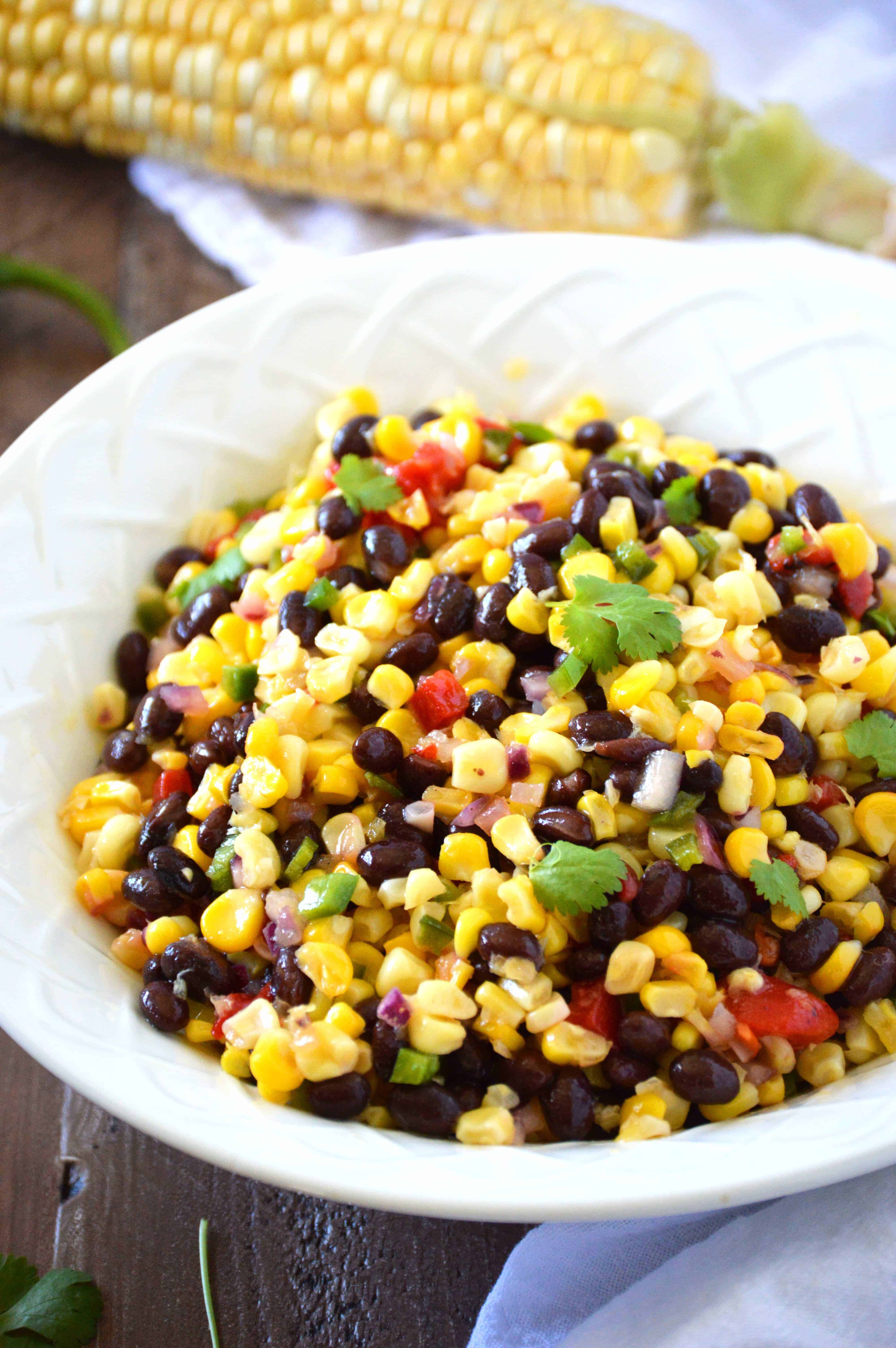 Corn Salad {AKA Texas Caviar} from What The Fork Food Blog