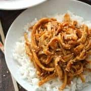 Crock Pot Teriyaki Chicken from What The Fork Food Blog