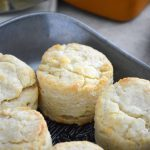 These easy and simple Gluten Free Biscuits are a adapted from my mom's biscuit recipe. These buttery, flaky, fluffy gluten free biscuits are everything you want in a biscuit! Gluten free biscuit recipe from @whattheforkblog   whattheforkfoodblog   easy biscuit recipe   how to make biscuits   gluten free biscuits and gravy   fluffy gluten free biscuits   gluten free dairy free biscuits   dairy free option   homemade biscuits