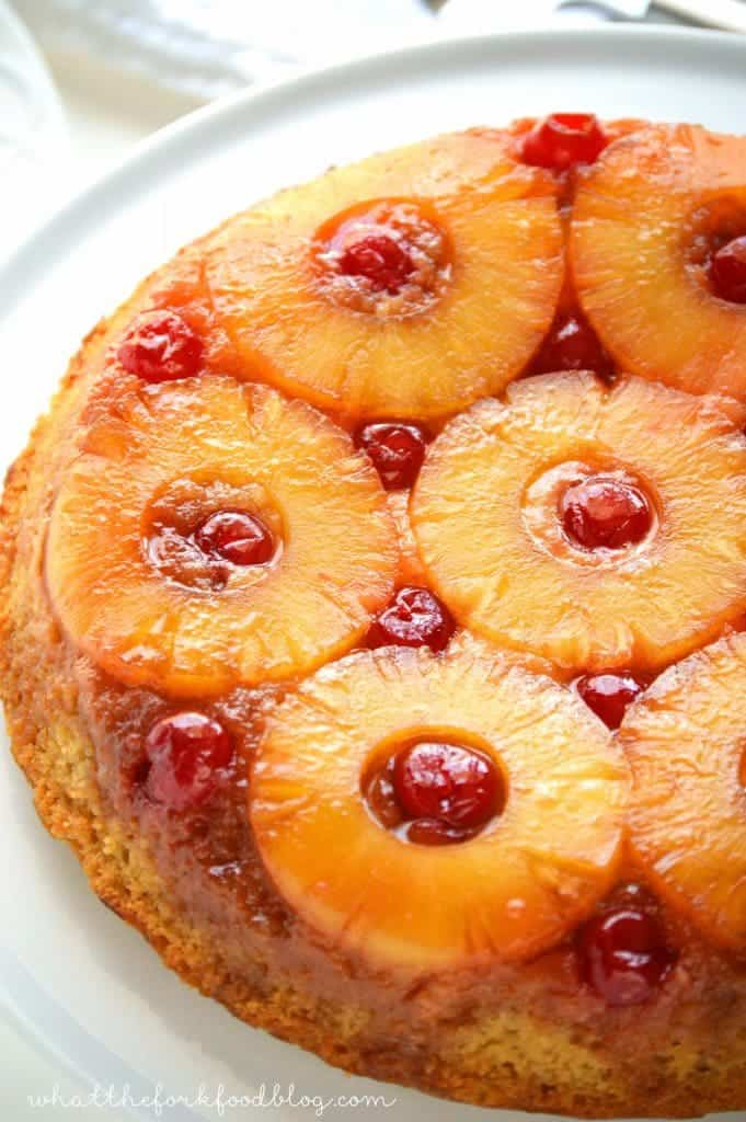 Pineapple Upside-Down Cake from What The Fork Food Blog