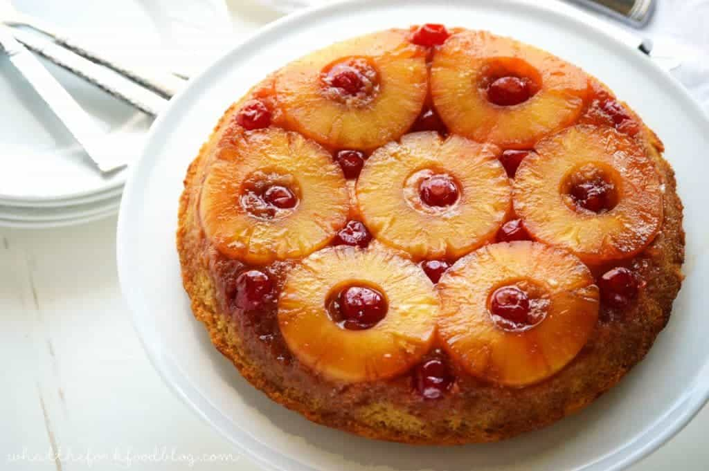 Gluten Free Pineapple Upside-Down Cake - What the Fork