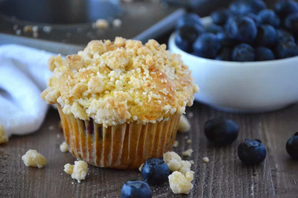 Blueberry Crumb Muffins from What The Fork Food Blog