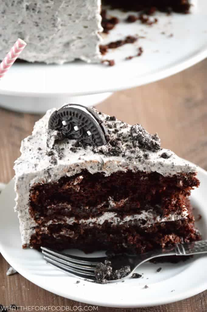 Cookies and Cream Cake from What The Fork Food Blog