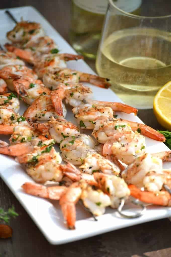 Grilled Garlic Shrimp with Ribera y Rueda Wine from What The Fork Food Blog