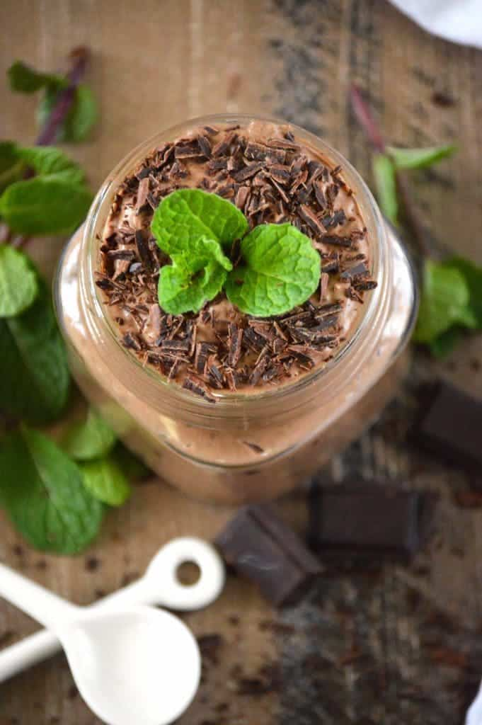 Mint Chocolate Chia Seed Pudding from What The Fork Food Blog