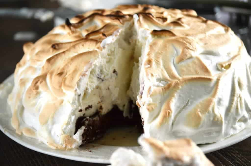 Cherry Vanilla Baked Alaska from What The Fork Food Blog