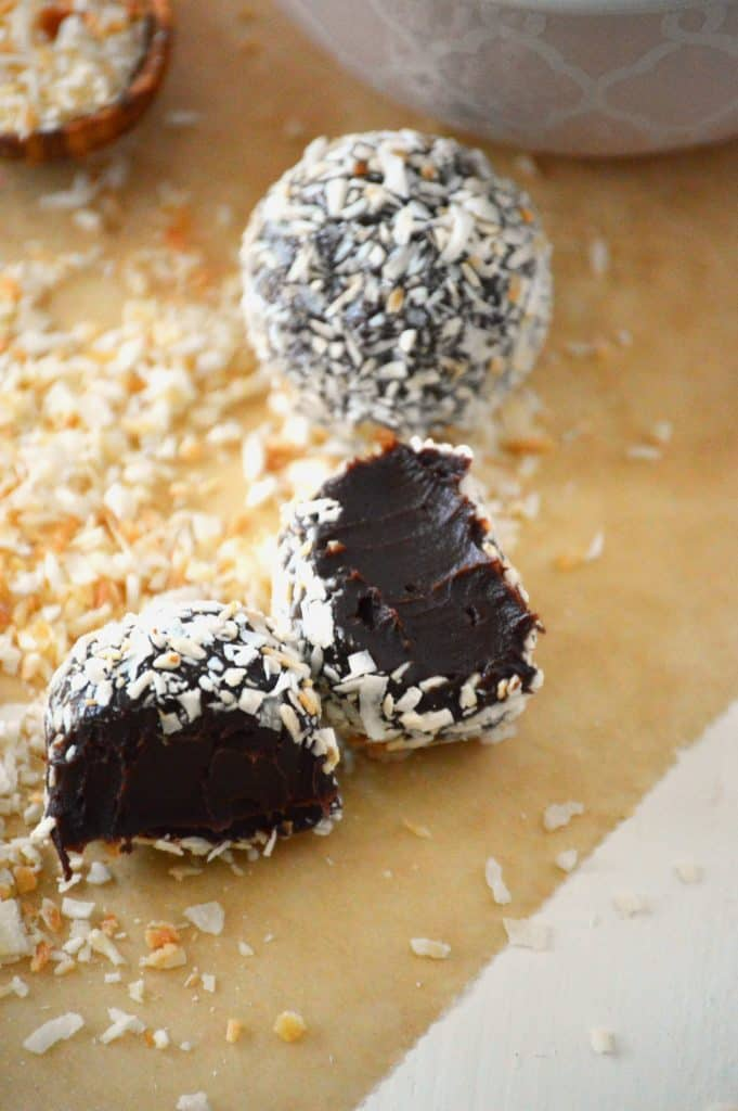 Toasted Coconut Truffles from What The Fork Food Blog | @WhatTheForkBlog | whattheforkfoodblog.com