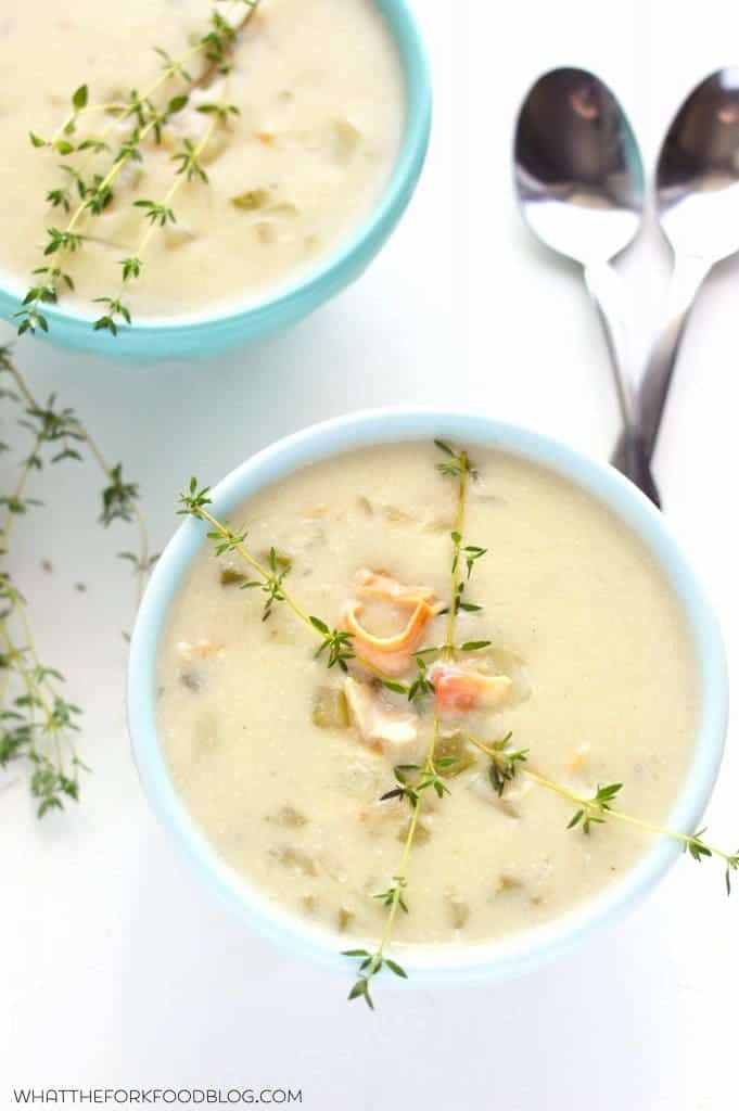 New England Clam Chowder from What The Fork Food Blog | @WhatTheForkBlog | whattheforkfoodbog.com