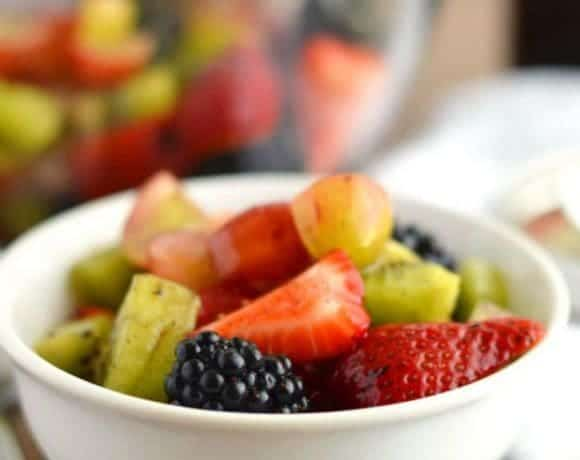 Easy Fruit Salad for Two (paleo)