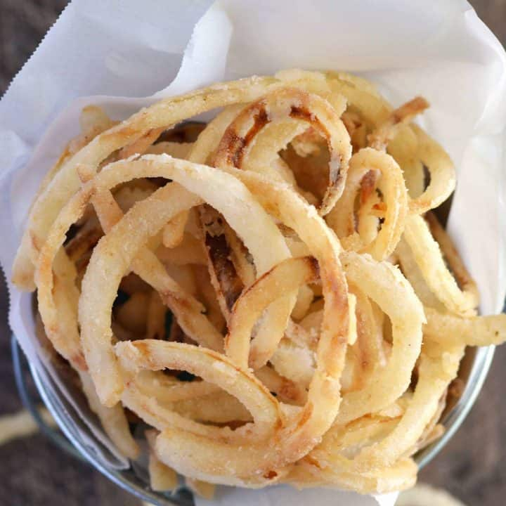 Fried Onion Straws from What The Fork Food Blog | @WhatTheForkBlog | whattheforkfoodblog.com