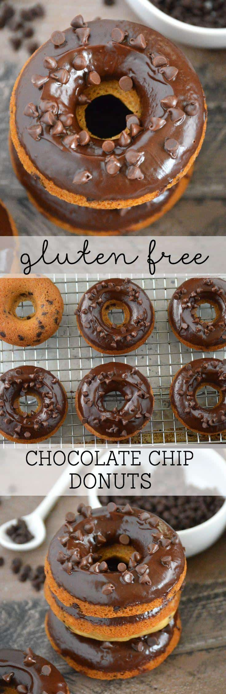 Gluten Free Chocolate Chip Donuts from What The Fork Food Blog | @WhatTheForkBlog | whattheforkfoodblog.com