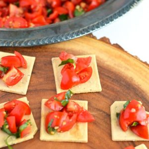 Easy Tomato Bruschetta from What The Fork Food Blog | @WhatTheForkBlog | whattheforkfoodblog.com