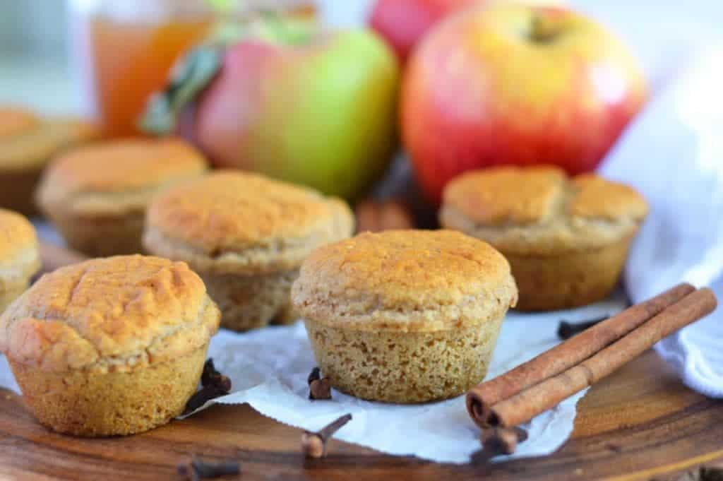 Apple Cider Donut Muffins (gluten free, dairy free, naturally sweetened) from What The Fork Food Blog | @WhatTheForkBlog | whattheforkfoodblog.com