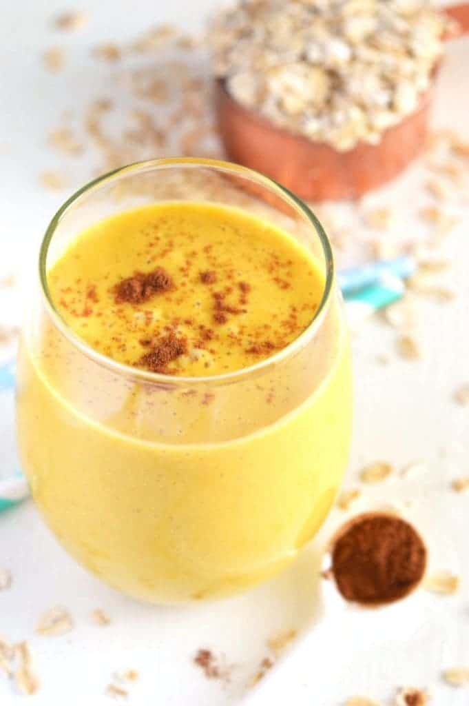 Pumpkin Pie Oatmeal Smoothie (gluten free, dairy free, naturally sweetened) from What The Fork Food Blog | @WhatTheForkBlog | whattheforkfoodblog.com