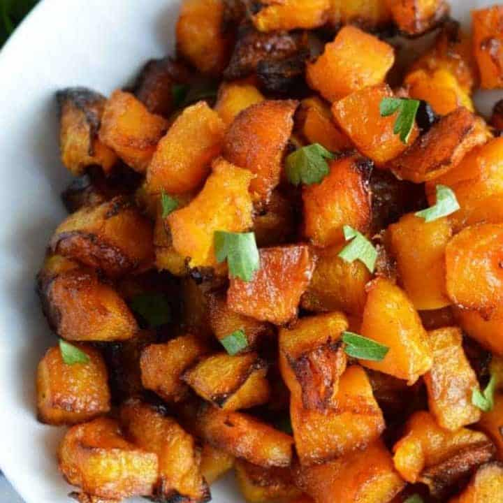 Caramelized Butternut Squash (Paleo) from What The Fork Food Blog | whattheforkfoodblog.com