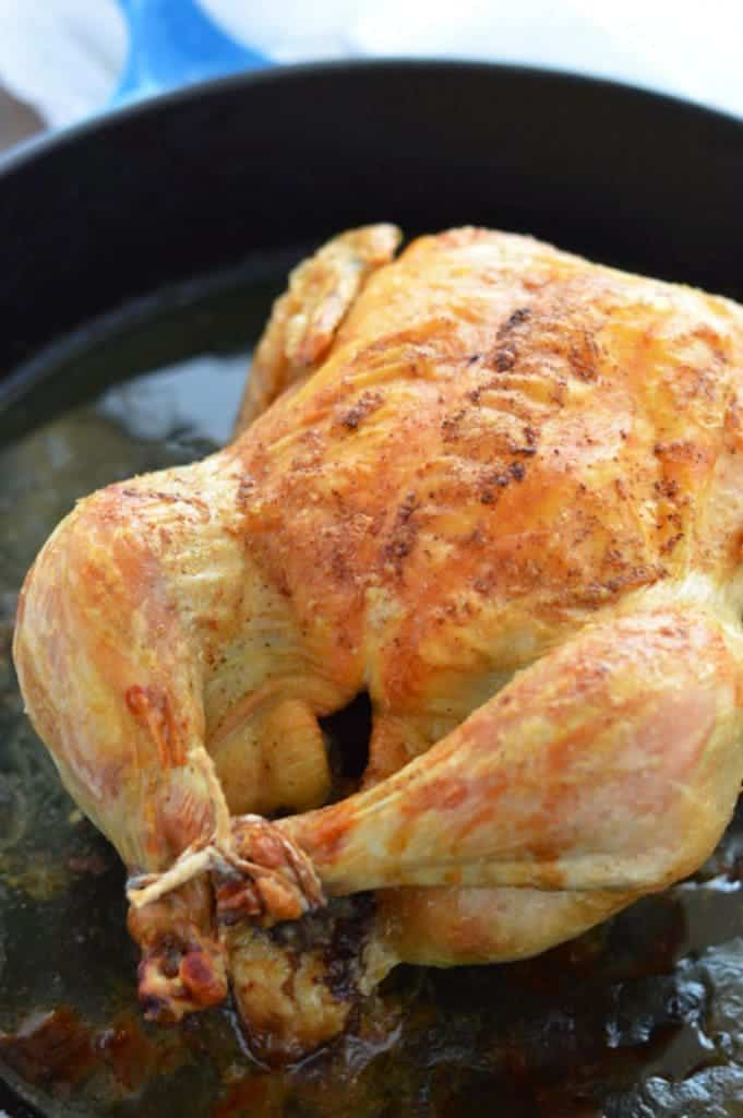 Pan Roasted Chicken and Gravy (Paleo) from What The Fork Food Blog