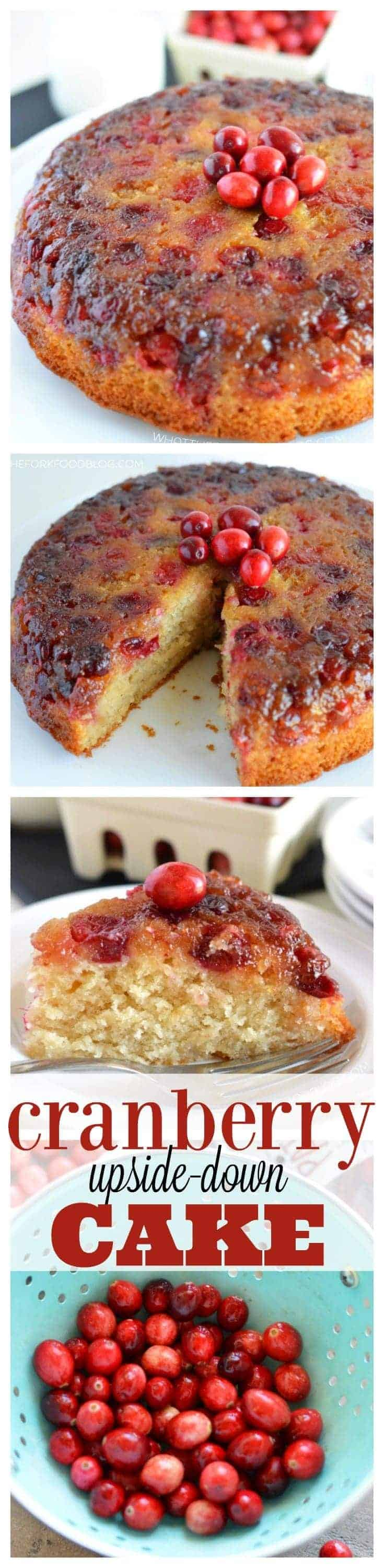 Cranberry Upside-Down Cake (gluten free and dairy free) from What The Fork Food Blog | whattheforkfoodblog.com