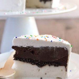 Dairy Free Freezer Cake from @whattheforkblog | whattheforkfoodblog.com | Sponsored by So Delicious | ice cream cake recipes | homemade ice cream cake | dairy free ice cream cake | gluten free ice cream cake recipes | no-bake dessert recipes | easy gluten free dessert recipes |