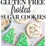 Gluten Free Frosted Sugar Cookies (dairy free too) from What The Fork Food Blog | whattheforkfoodblog.com