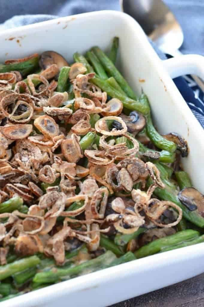 Gluten Free Green Bean Casserole from What The Fork Food Blog | whattheforkfoodblog.com