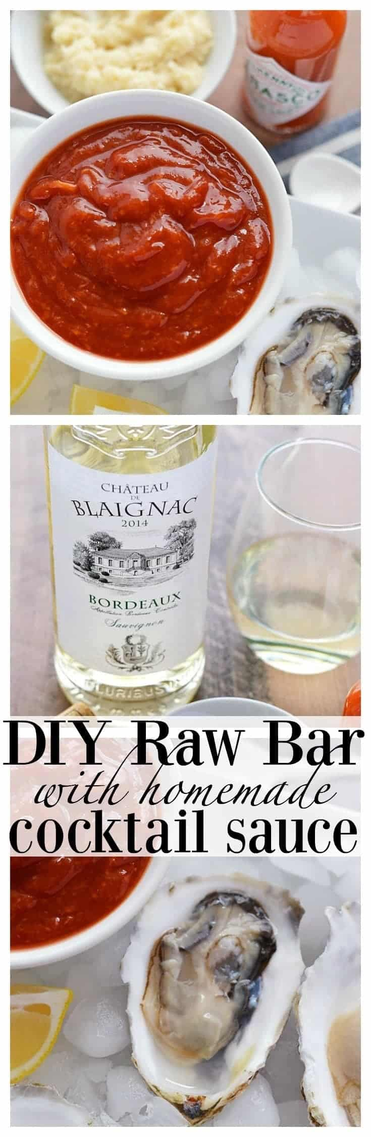 DIY Raw Bar with Homemade Cocktail Sauce and Bordeaux Wine from What The Fork Food Blog | whattheforkfoodblog.com
