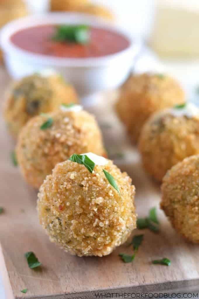Spinach and Artichoke Risotto Balls (gluten free) from What The Fork Food Blog | whattheforkfoodblog.com