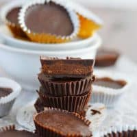 Easy Chocolate Hazelnut PaleoNutbutter Cups