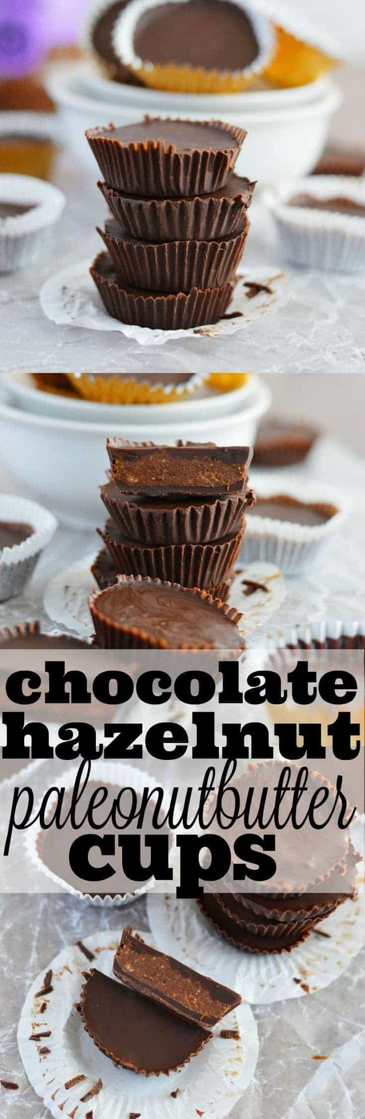 Chocolate Hazelnut PaleoNutbutter Cups from What The Fork Food Blog . Paleo, gluten free, and dairy free.| whattheforkfoodblog.com
