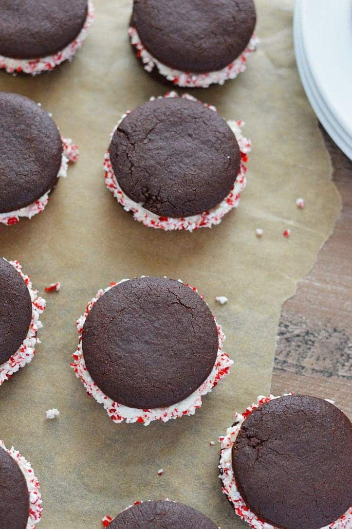Chocolate Peppermint Sandwich Cookies What The Fork