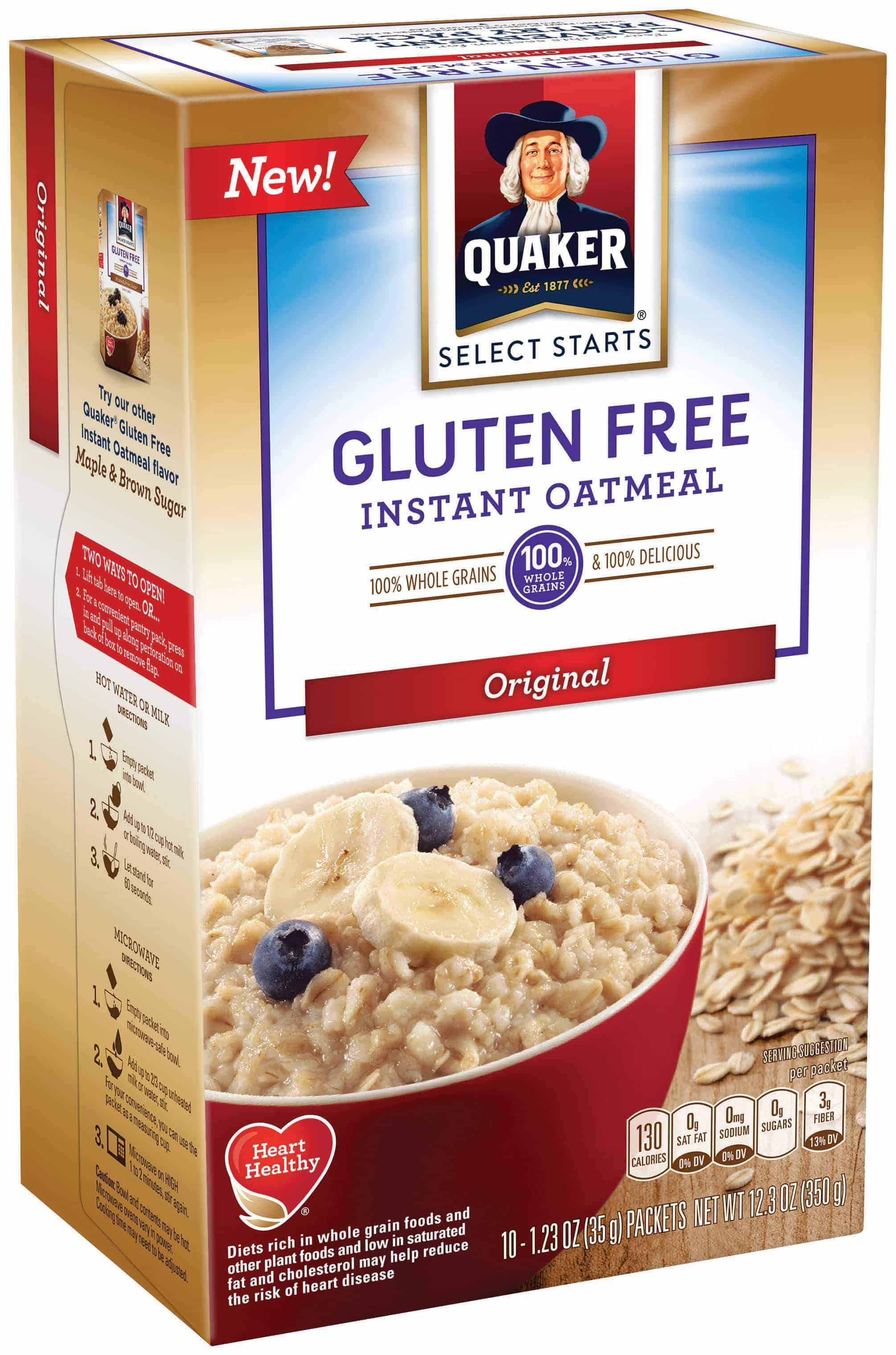 Quaker summit quaker gluten free oatmeal from what the for Atkins cuisine all purpose baking mix where to buy