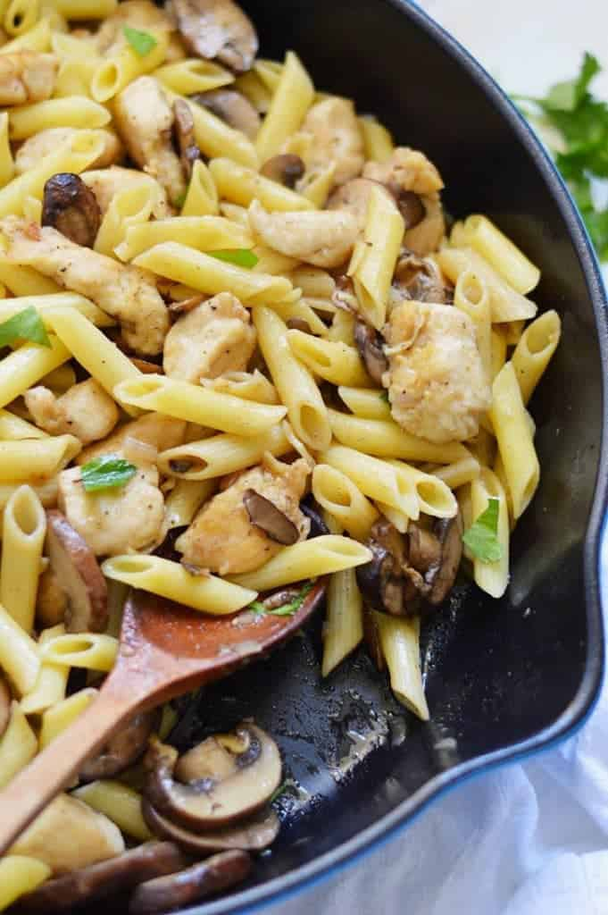 Gluten Free Chicken Marsala, an easy weeknight meal. From What The Fork Food Blog | whattheforkfoodblog.com
