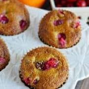 Grain Free Cranberry Orange Muffins