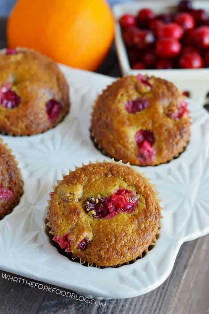 Grain Free Cranberry Orange Muffins from What The Fork Food Blog | whattheforkfoodblog.com