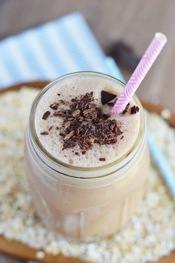 Chocolate Peanut Butter Oatmeal Smoothies from @whattheforkblog. These smoothies are #healthy , filling, and full of flavors you love - they make a great on-the-go breakfast! | recipe on whattheforkfoodblog.com | sponsored | oatmeal smoothie recipes | recipes with oatmeal | healthy smoothie recipes | how to make smoothies with oatmeal | smoothies with peanut butter | smoothies with chocolate | #smoothies without bananas | breakfast smoothies | easy smoothie recipes | smoothies without vegetables