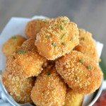 Gluten Free Tater Tots from What The Fork Food Blog. Super crispy outside, soft fluffy potato inside - these make an amazing appetizer, side dish, or snack!   whattheforkfoodblog.com
