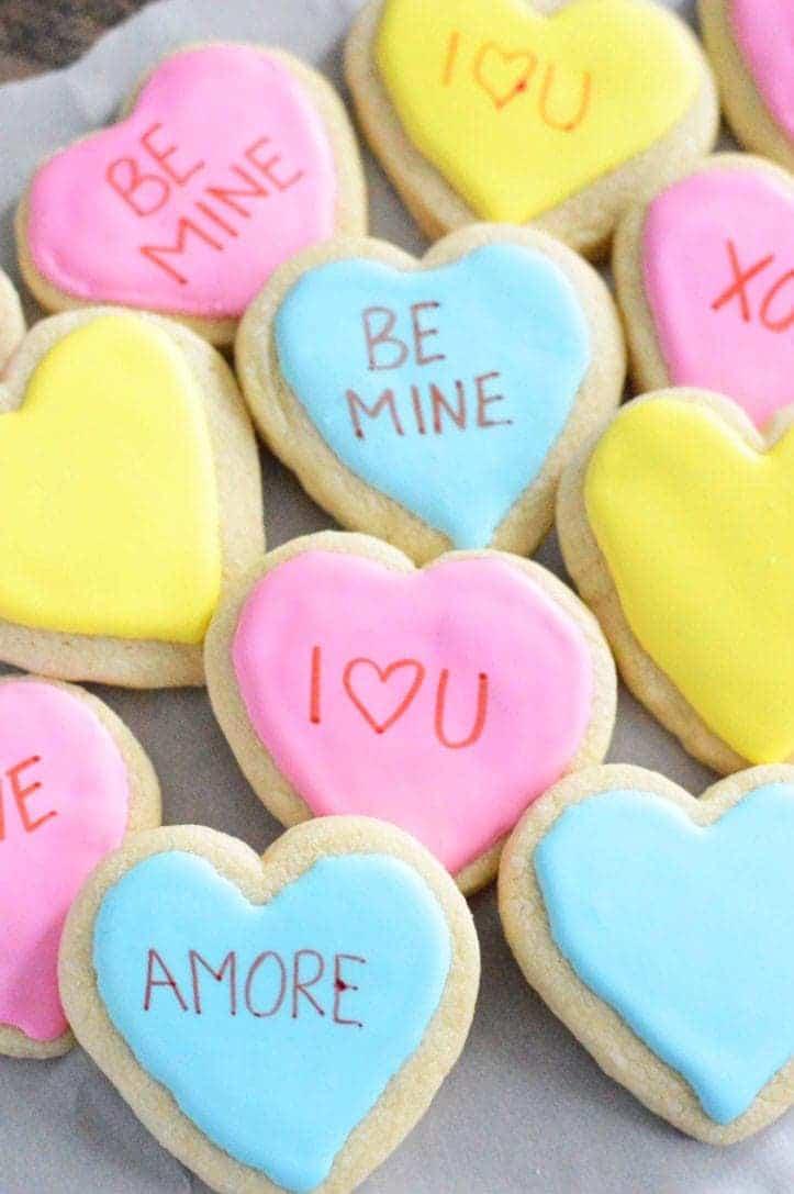 Gluten Free Conversation Heart Cookies