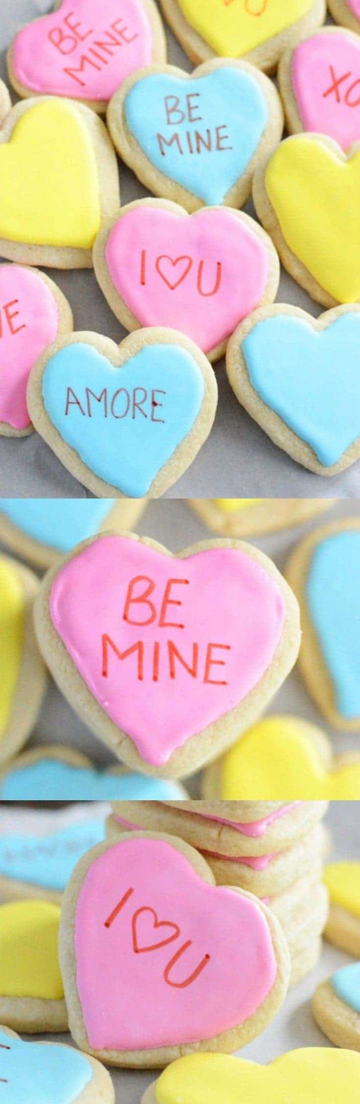 Gluten Free Conversation Heart Cookies (also dairy free) from What The Fork Food Blog | whattheforkfoodblog.com