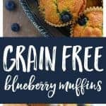 Grain Free Blueberry Muffins from What The Fork Food Blog | whattheforkfoodblog.com