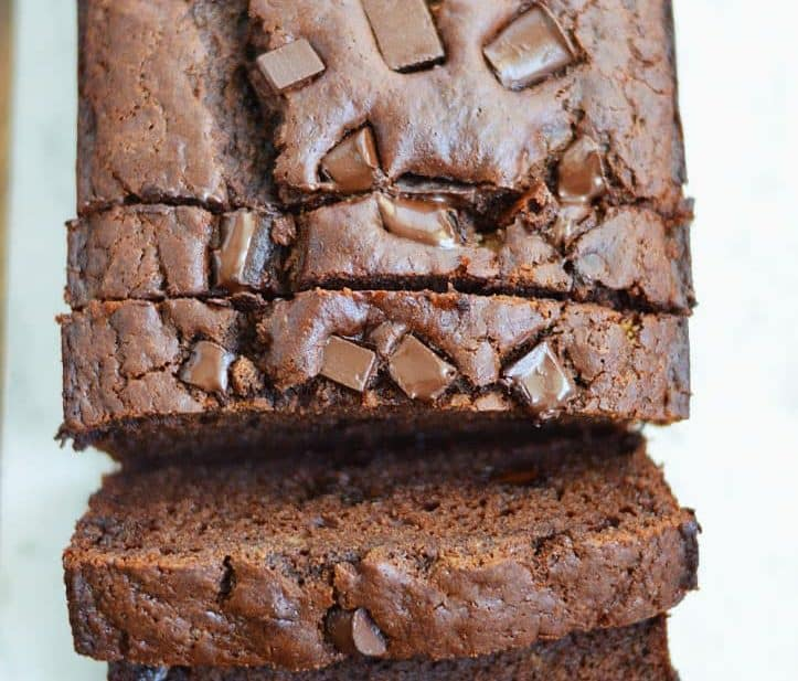 Double Chocolate Banana Bread (gluten free and dairy free) from What The Fork Food Blog | whattheforkfoodblog.com