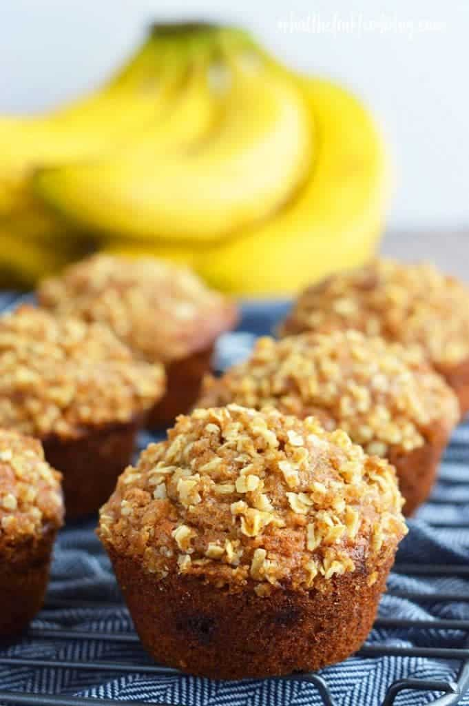 Gluten Free Banana Oat Muffins from What The Fork Food Blog