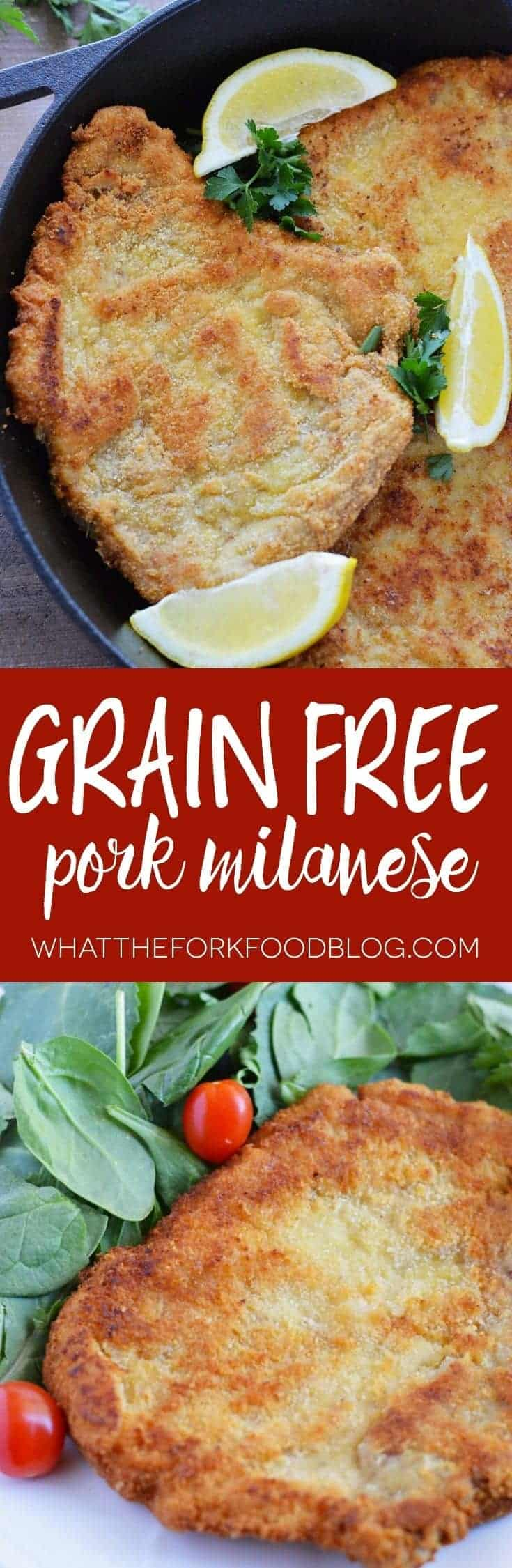 Grain Free Pork Milanese from What The Fork Food Blog | whattheforkfoodblog.com