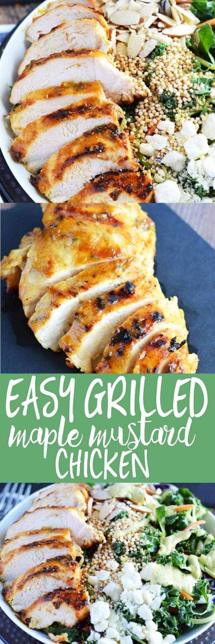 Grilled Maple Mustard Chicken (gluten free, dairy free, healthy, and paleo-friendly) from What The Fork Food Blog | whattheforkfoodblog.com