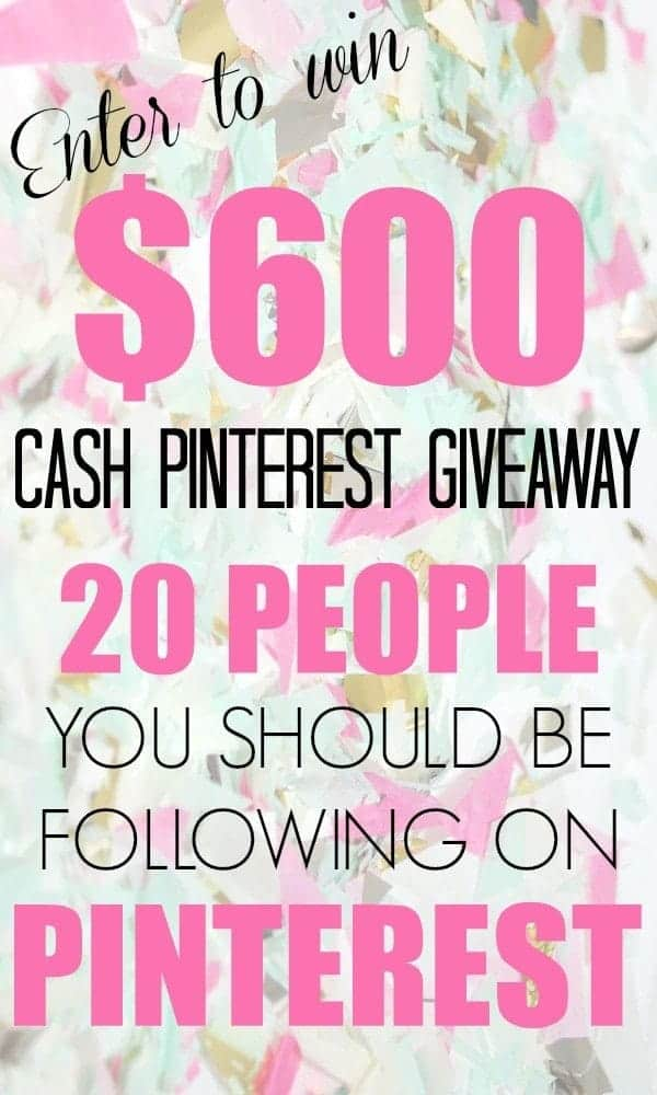 Cash Pinterest Giveaway