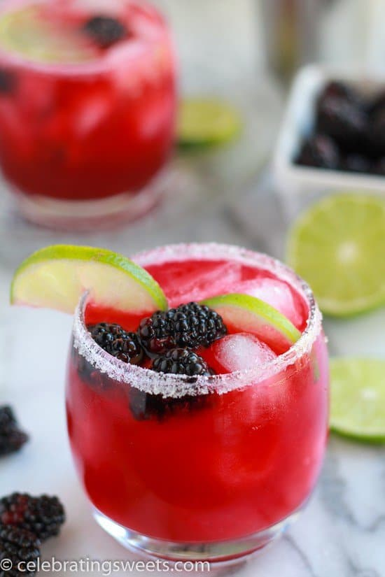 Blackberry Lime Margaritas + 25 Margarita Recipes for Cinco de Mayo on What The Fork Food Blog | whattheforkfoodblog.com