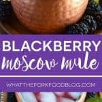 Blackberry Moscow Mule from What The Fork Food Blog | whattheforkfoodblog@gmail.com