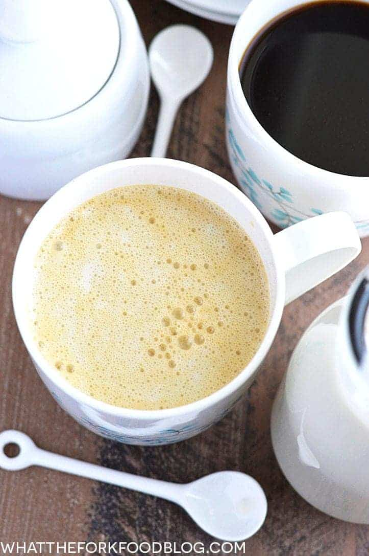 Dairy Free Coffee Creamer from What The Fork Food Blog | whattheforkfoodblog.com