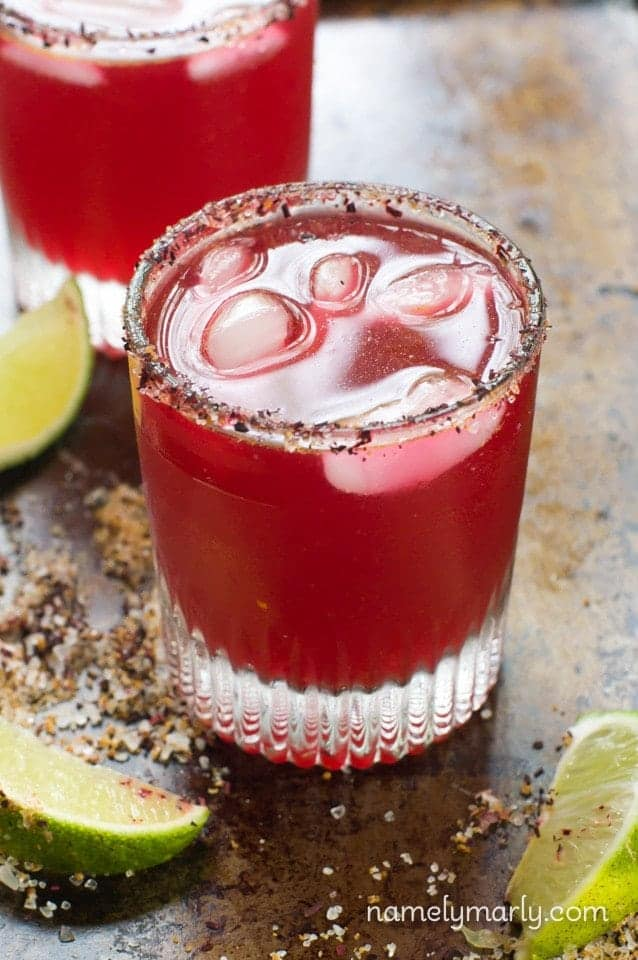 Hibiscus Margarita + 25 Margarita Recipes for Cinco de Mayo on What The Fork Food Blog | whattheforkfoodblog.com