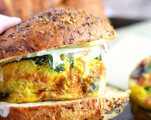 Frittata Breakfast Sandwiches and Giveaway
